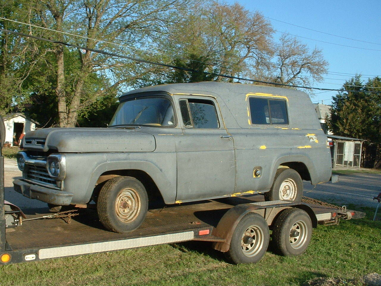 1960 Ford F 100 Panel Delivery Truck Parts Restore Rat Rod