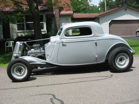 1934 Ford 3 Window Coupe Old School Hot Rod Original Henry Ford frame for sale