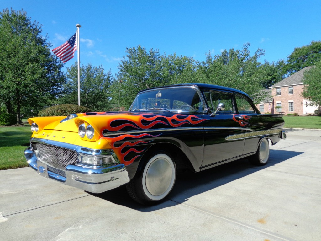 1958 Ford Custom 300 Old School Hot Rod Build For Sale