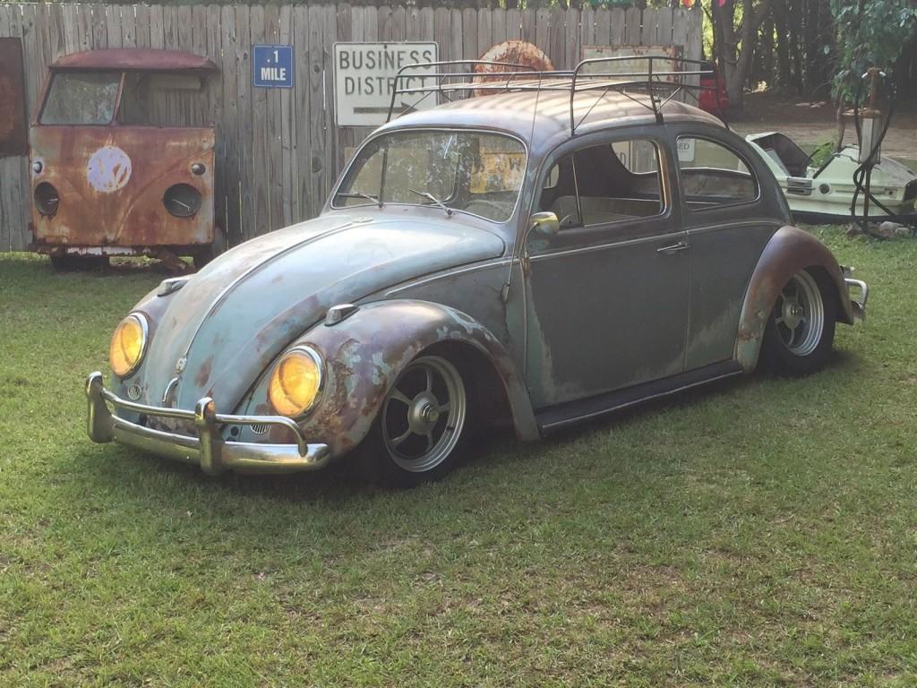 1961 volkswagen beetle patina rat rod hot rod for sale vw beetle rat rod