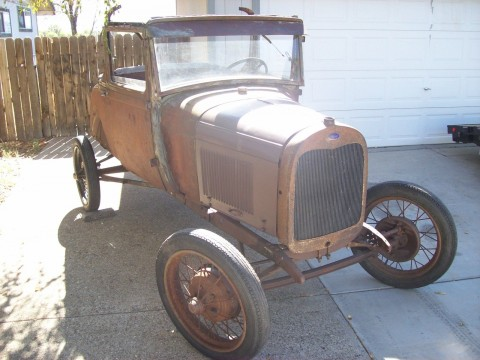 1928 Ford Model A Sport Coupe Roller Banger for sale