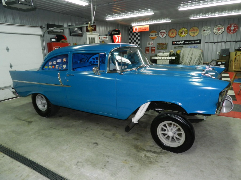 1957 chevy gasser high end build 512ci bbc 4sp hot. Black Bedroom Furniture Sets. Home Design Ideas