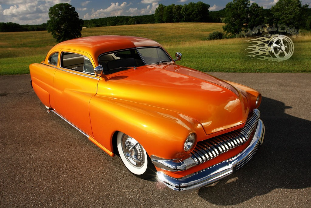 1951 Mercury Chopped Hot Rod Custom Sunset Merc