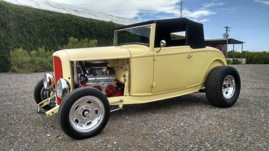 1932 ford cabriolet all steel halibrand hot rod for sale