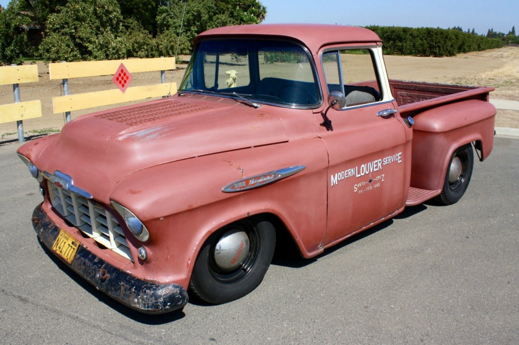 1957 chevrolet big window v8 pickup  california truck  hot