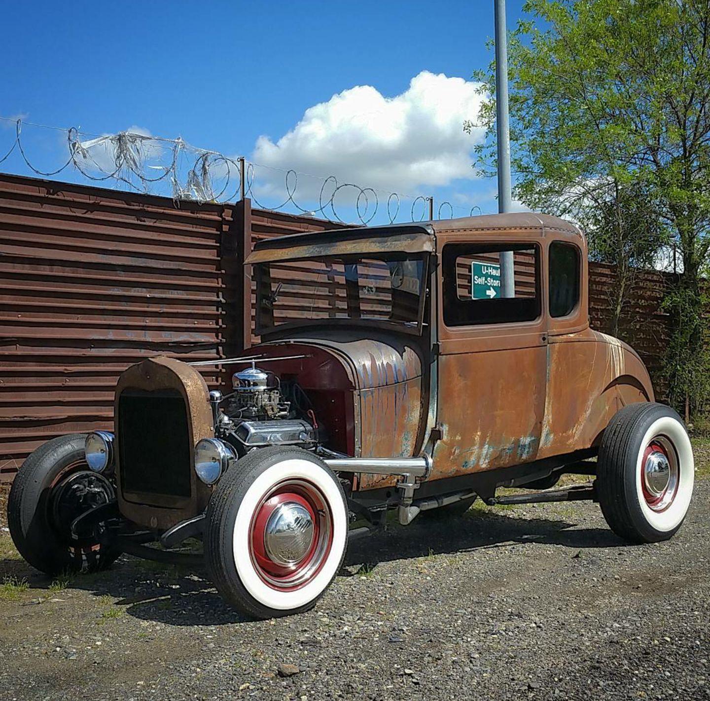 1929 Ford Model A Model Chopped Patina Custom Rat Rod For Sale