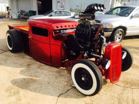 Badass 1931 Ford Pickup blown and chopped street rod for sale