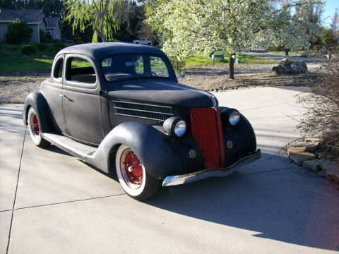 Old school 1936 Ford Business coupe hot rod for sale