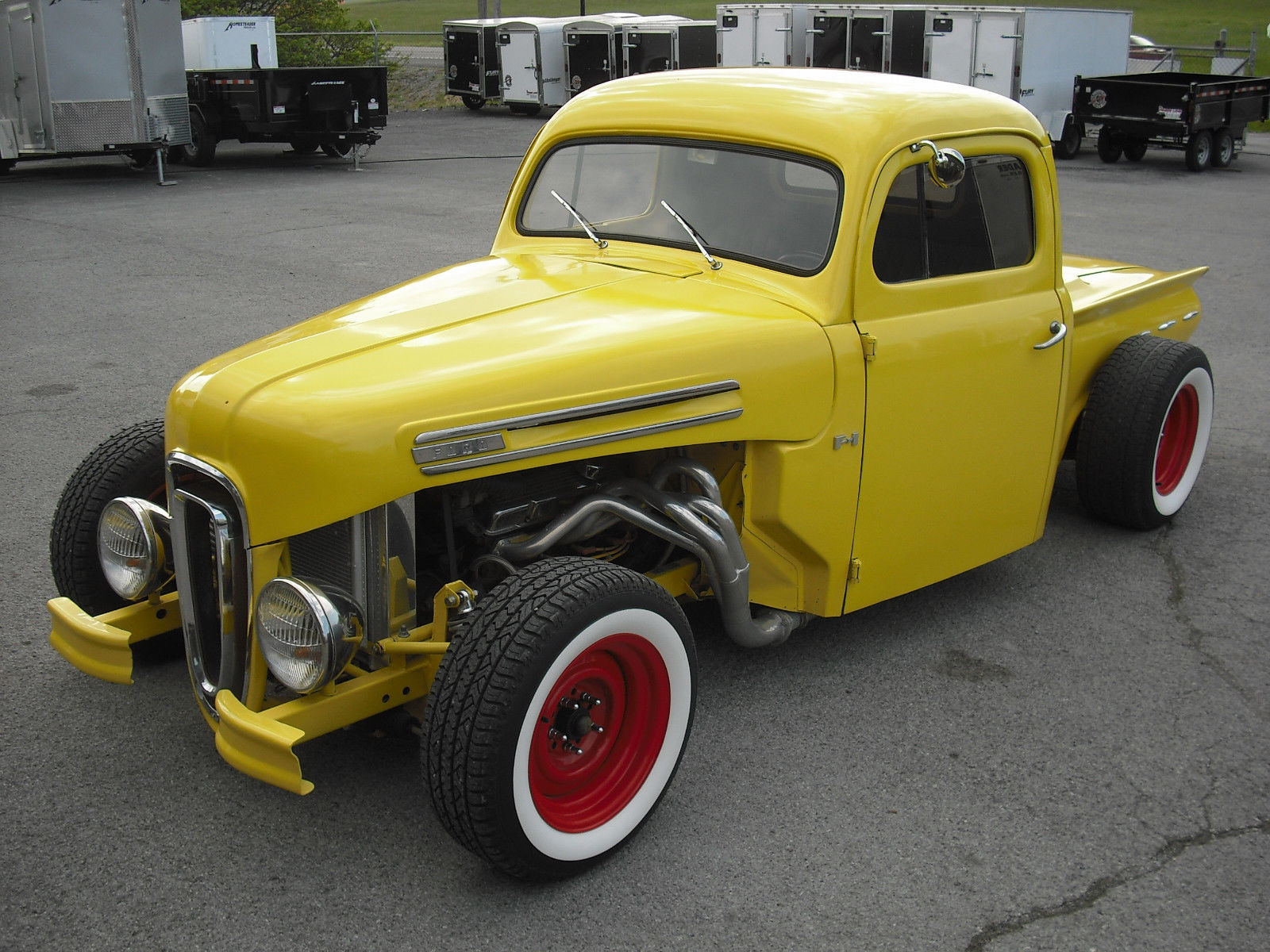 chopped 1950 ford pickup hot rod for sale. Black Bedroom Furniture Sets. Home Design Ideas