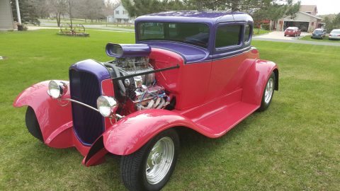 Laser straight 1932 Ford Model A 5 Window coupe hot rod for sale