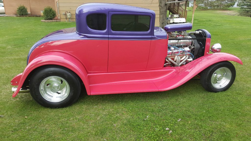 Laser Straight 1932 Ford Model A 5 Window Coupe Hot Rod