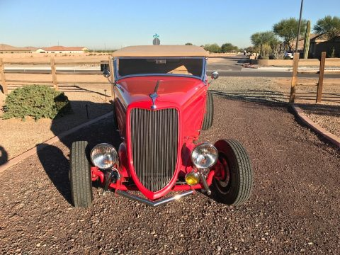 Red beast 1934 Ford roadster hot rod for sale