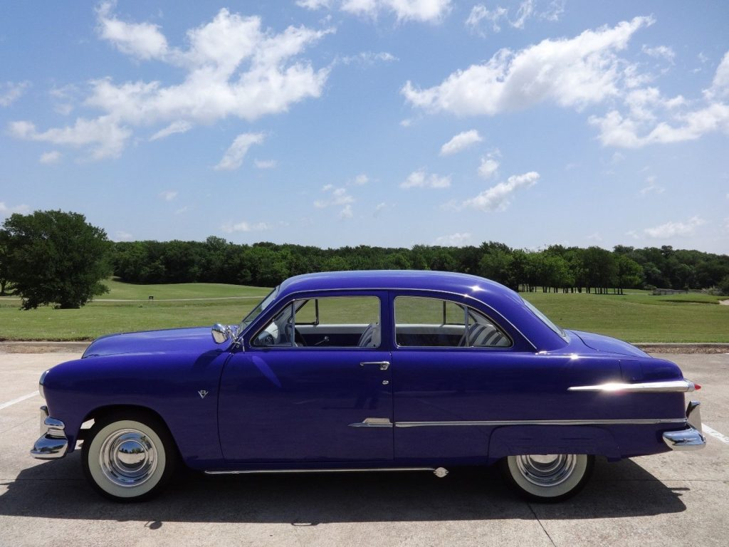 Street machine 1951 ford two door sedan hot rod for sale for 1951 ford 2 door sedan