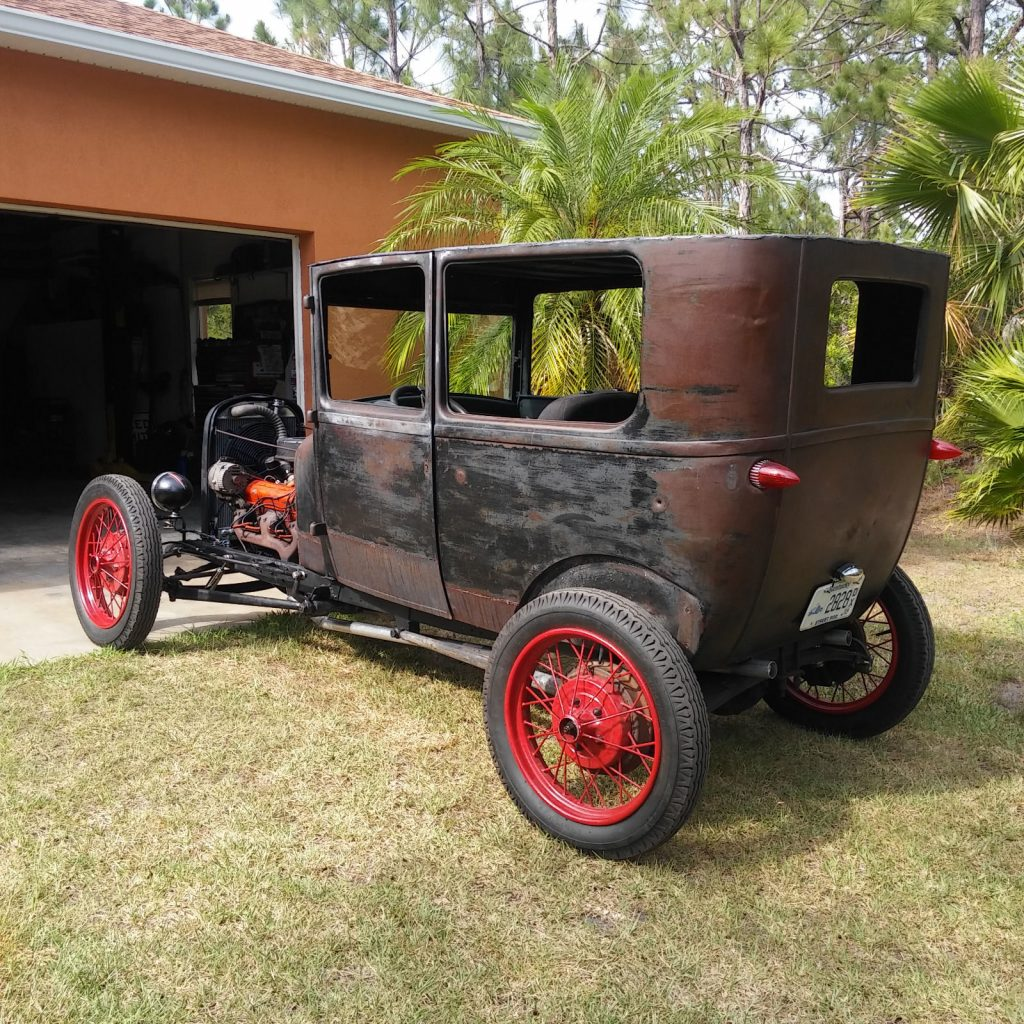 Not chopped 1927 Ford Model T hot rod
