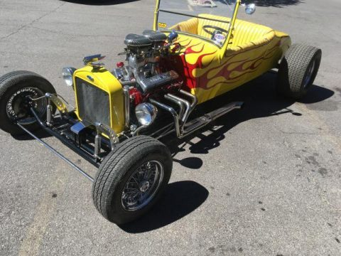 Yellow flash 1927 Ford Model T hot rod for sale