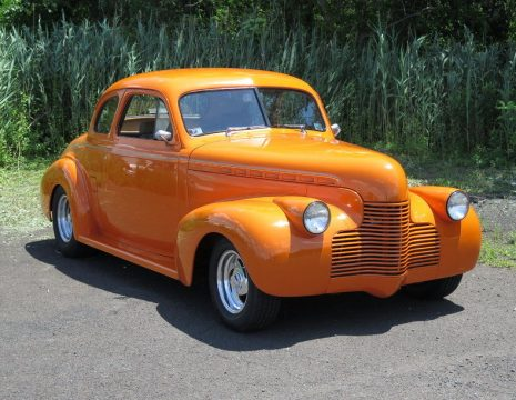 orange badass 1940 Chevrolet 5 Window Coupe hot rod for sale