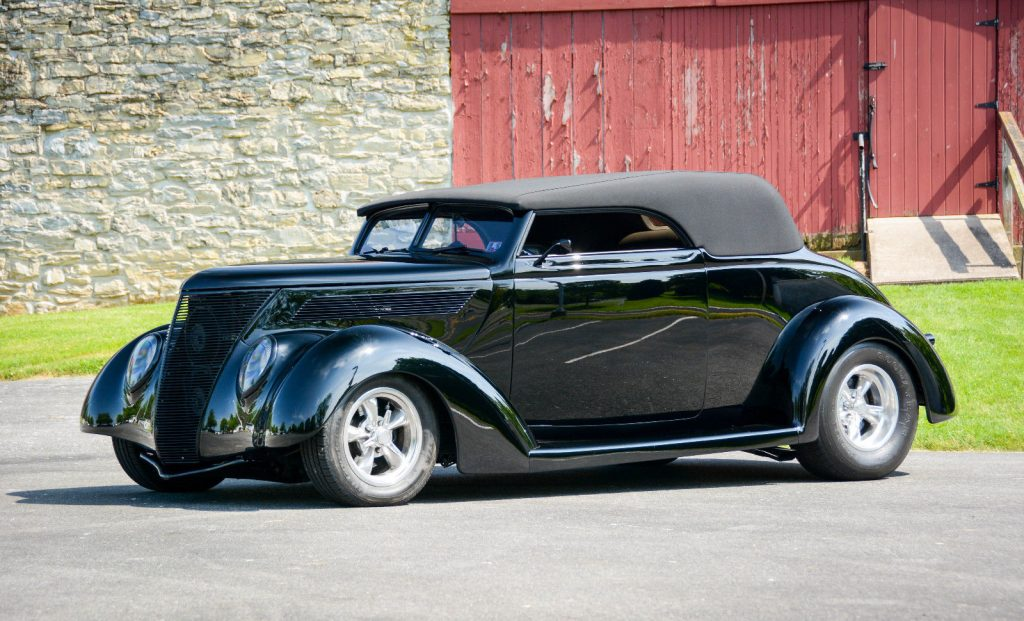 Pampered 1937 Ford Ford Club Cabriolet hot rod
