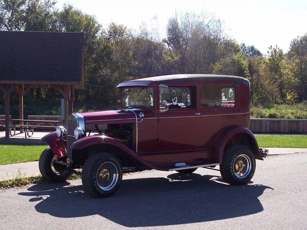 clean 1930 Ford Model A hot rod