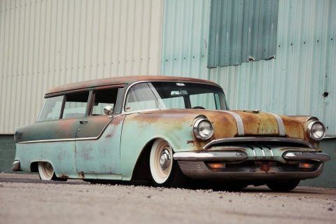 rare 1955 Pontiac 2 door wagon hot rod for sale
