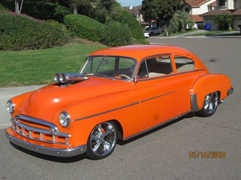 Body off build 1950 Chevrolet FLEETLINE hot rod for sale