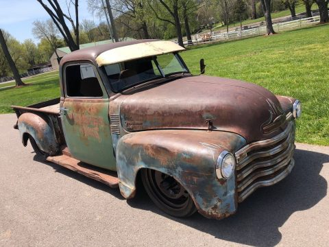 farm rod 1951 Chevrolet Pickup Shortbed Ratrod Shop Truck hot rod for sale