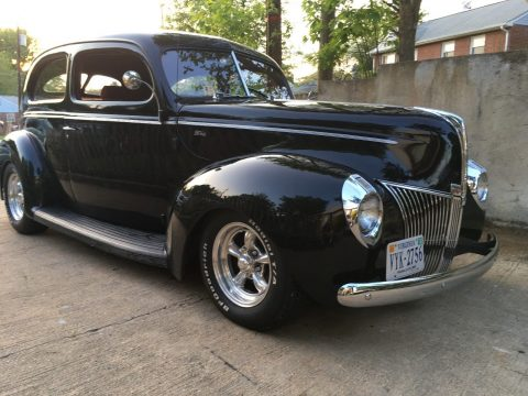 restored 1940 Ford Tudor Standard Chrome Grill hot rod for sale