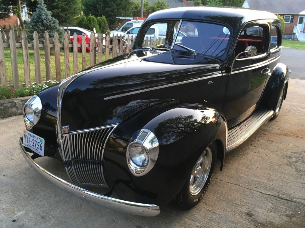 restored 1940 Ford Tudor Standard Chrome Grill hot rod
