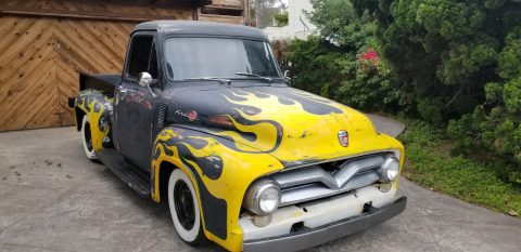 nice patina 1955 Ford F 100 Custom Cab hot rod for sale