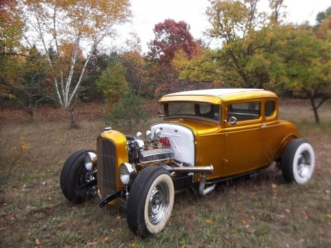 recently built 1930 Ford Model A Pagan gold hot rod for sale