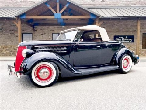 beautifully restored 1936 Ford Roadster Convertible hot rod for sale