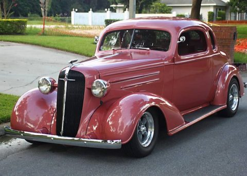 low miles 1936 Chevrolet Master Deluxe Business Coupe hot rod for sale