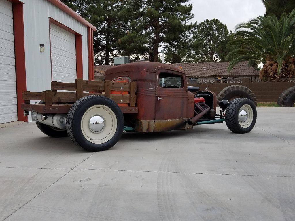 rusty patina 1935 International Harvester rat rod pickup
