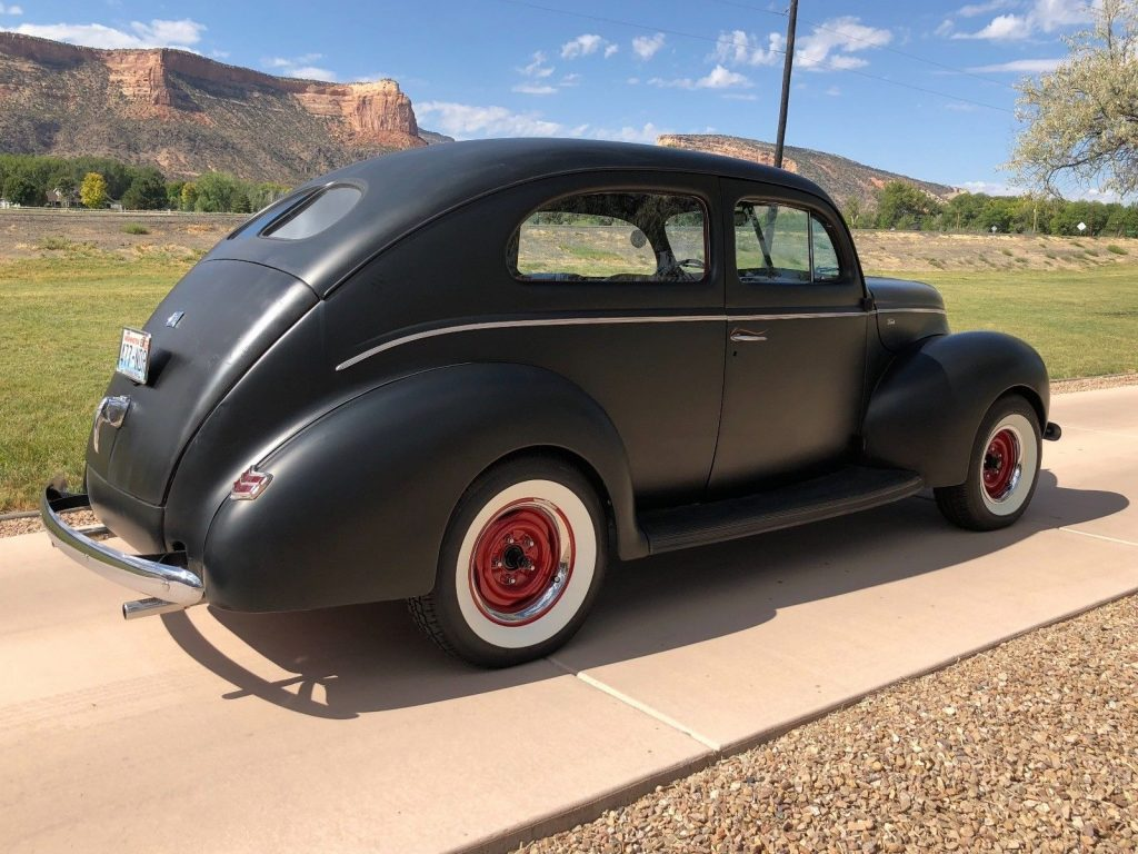 old school 1940 Ford Two Door hot rod