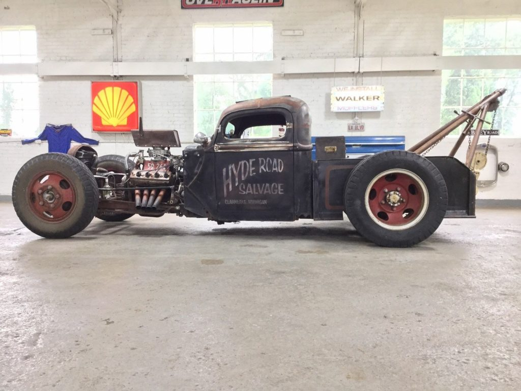 tow wrecker 1940 Ford Pickup Rat Rod hot rod