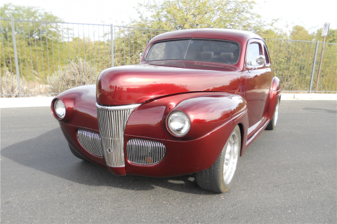 chopped 1941 Ford Deluxe hot rod for sale