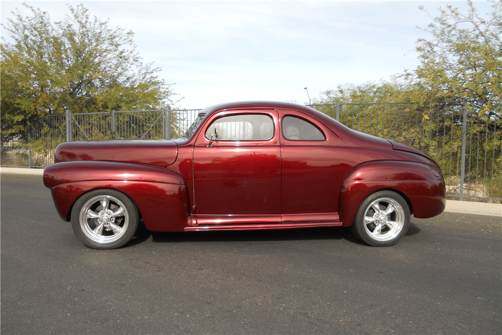 chopped 1941 Ford Deluxe hot rod