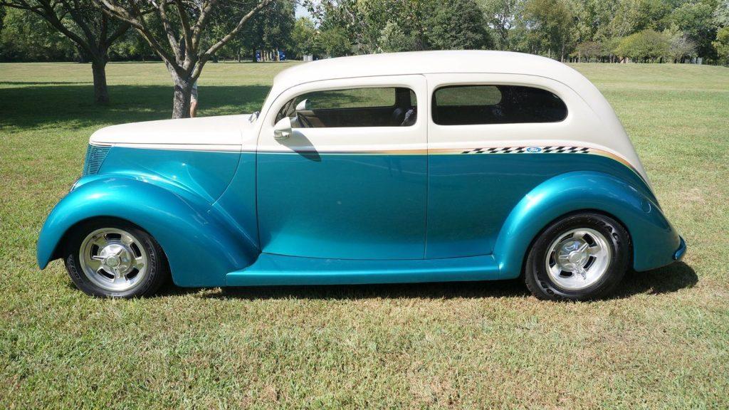 chopped 1937 Ford Sedan hot rod