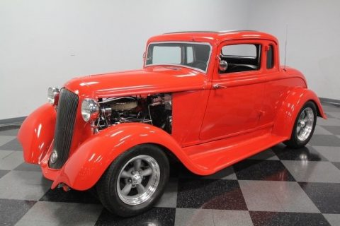 Chevy powered 1933 Plymouth 5 Window Coupe hot rod for sale