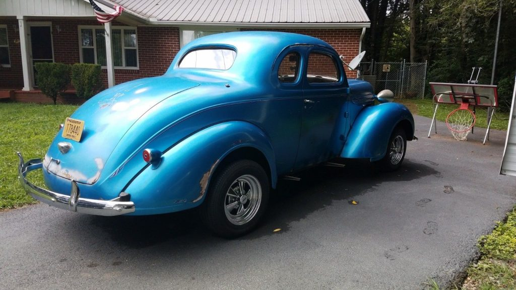 gasser 1937 Plymouth coupe hot rod
