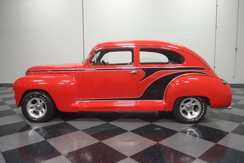 nice build 1947 Plymouth Special Deluxe hot rod