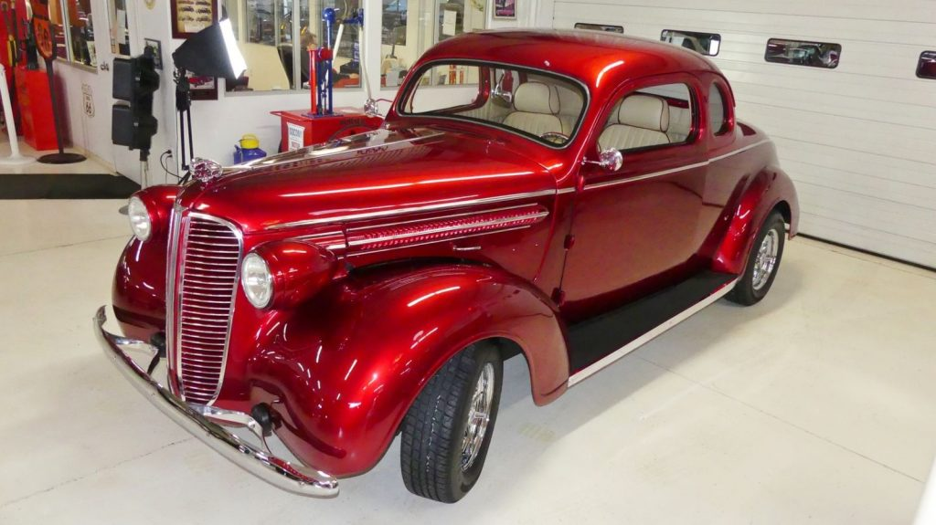 nicely modified 1937 Dodge Business Coupe hot rod