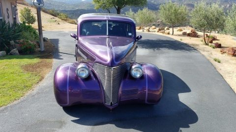 low miles 1939 Chevrolet Master Deluxe hot rod for sale