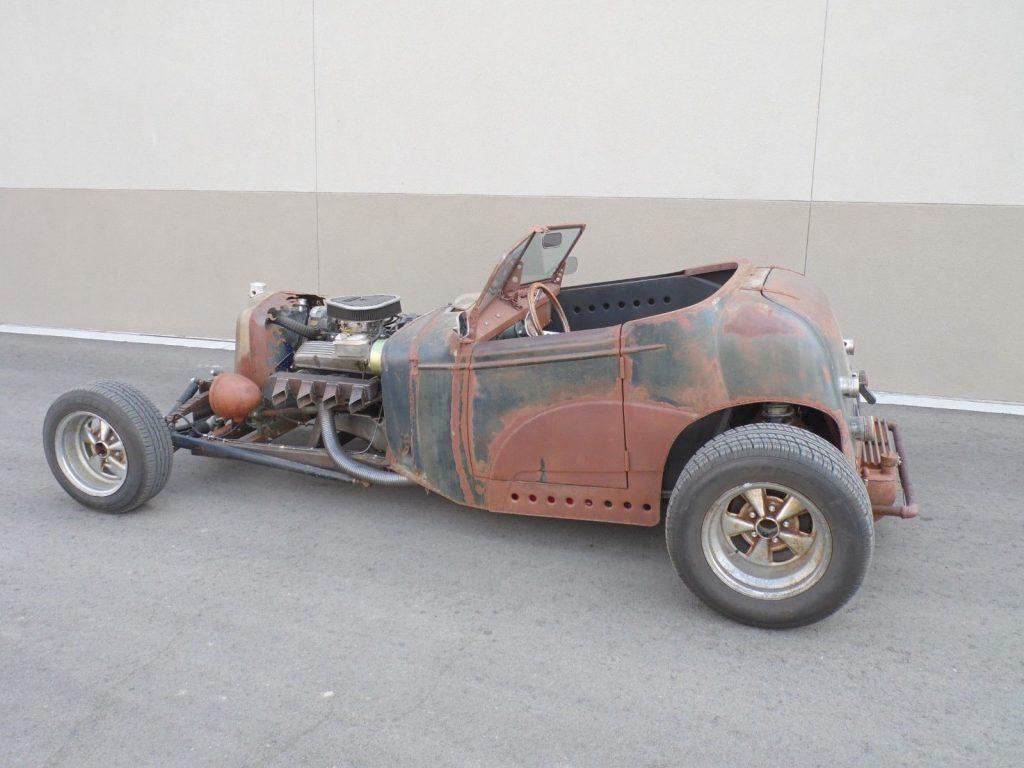 nice patina 1935 Chevrolet Roadster hot rod