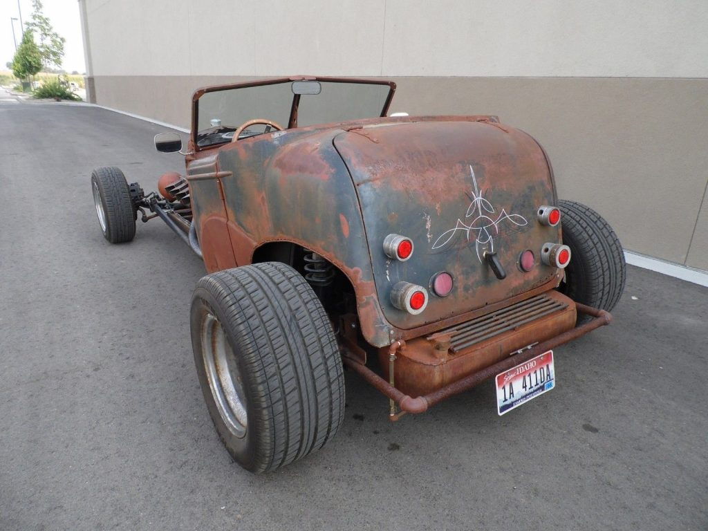nice patina 1935 Chevrolet Roadster hot rod