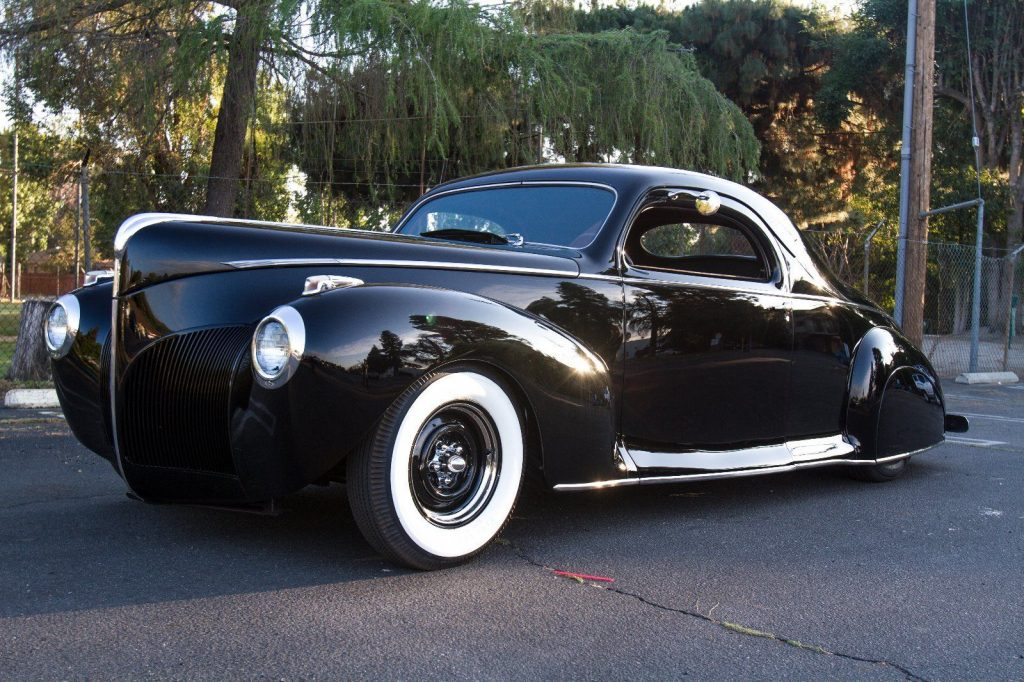 nicely customized 1941 Lincoln Zephyr hot rod