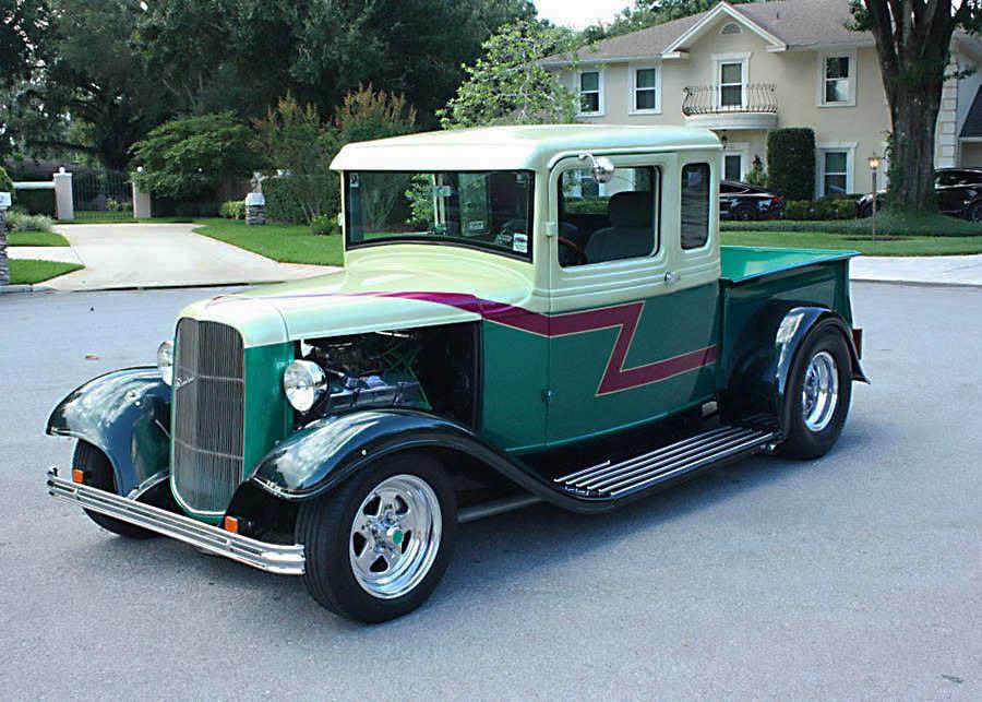 older build 1933 Ford Pickup FIVE Window hot rod