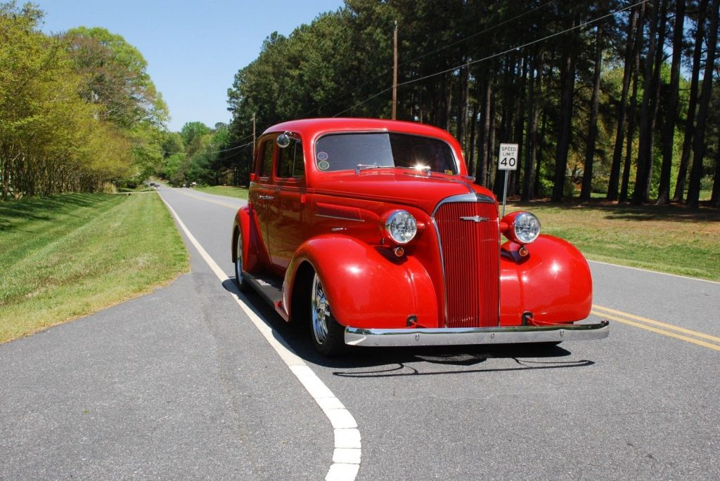 well maintained 1937 Chevrolet Slantback hot rod