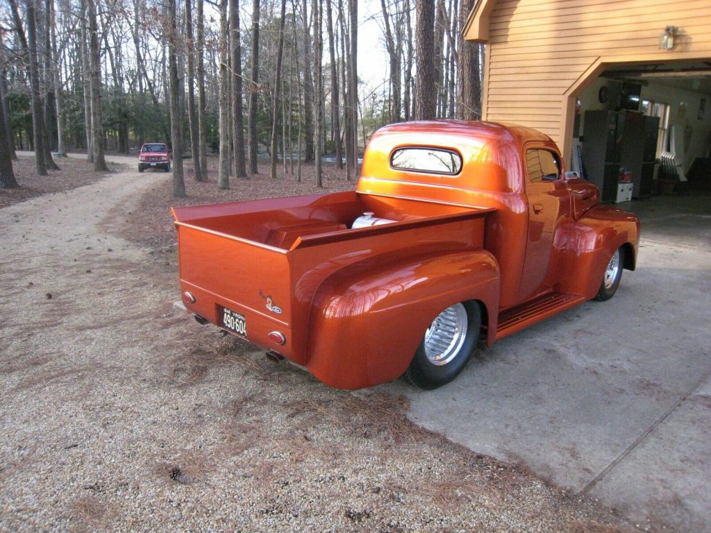 fullly customized 1948 Ford F 100 hot rod