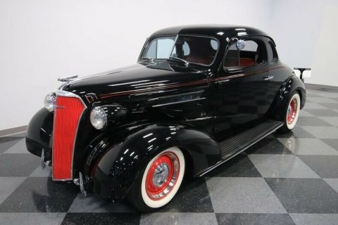crate small block 1937 Chevrolet Deluxe hot rod for sale