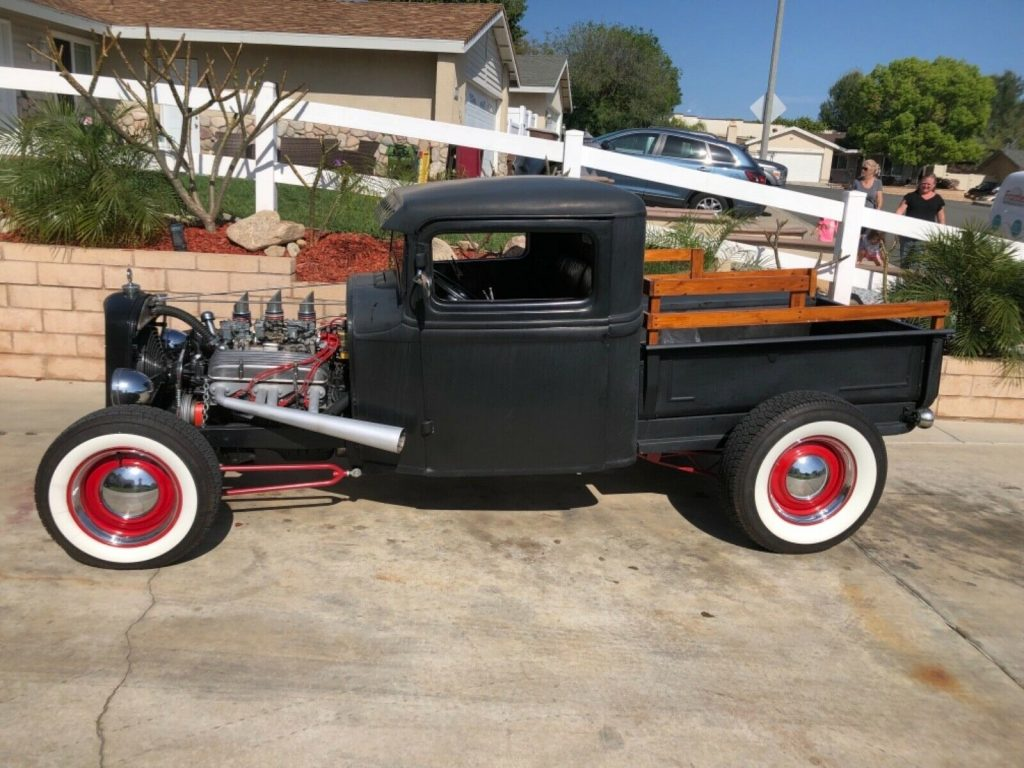 customized 1934 Ford Model A pickup hot rod